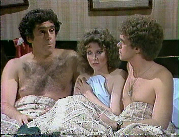 "Elliott Gould, Ann Risley and Joe Piscopo in a ""Bob & Carol & Ted & Alice"" on Saturday Night Live's ill-fated 1980-81 season"