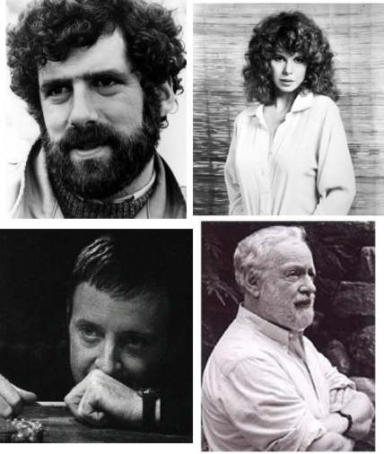 "The four elements: ""A Glimpse of Tiger"" stars Elliott Gould and Kim Darby (top), director Anthony Harvey (bottom left) and author Herman Raucher."