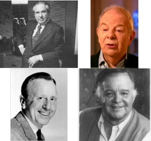 The powers that be: clockwise, from top: David Begelman, Jack Brodsky, Paul Heller, Ray Stark.