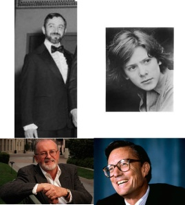 Clockwise from top: Ted Ashley, Kristoffer Tabori, Frank Wells, John Calley