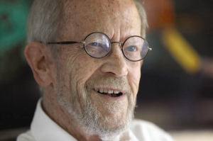 Author Elmore Leonard and screenwriter Jim Borrelli.